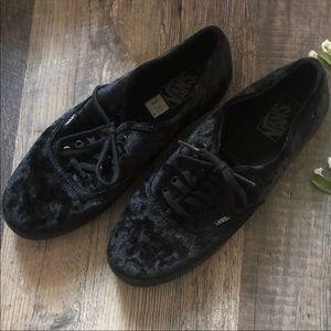 Vans | Crushed Black Velvet Shoes